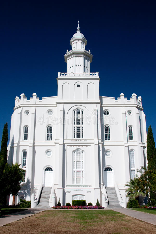 Templo de San Jorge Utah fotos de archivo libres de regalías