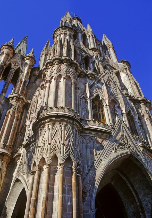Templo de San Miguel de Allende imagem de stock