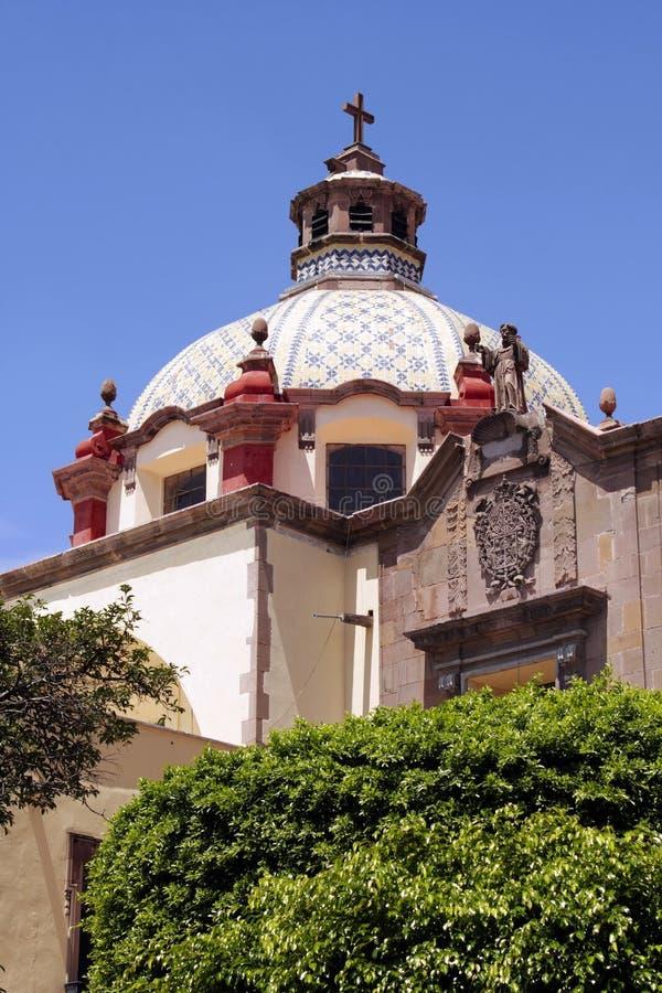 Templo de Santa Clara - Queretaro, México imagen de archivo libre de regalías