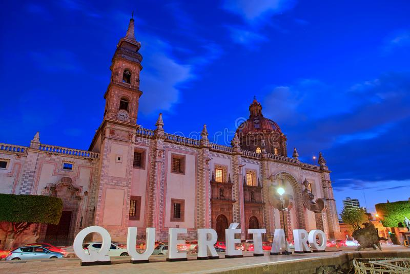 Templo de Santa Rosa de Витербо, Queretaro, Мексика стоковые фотографии rf