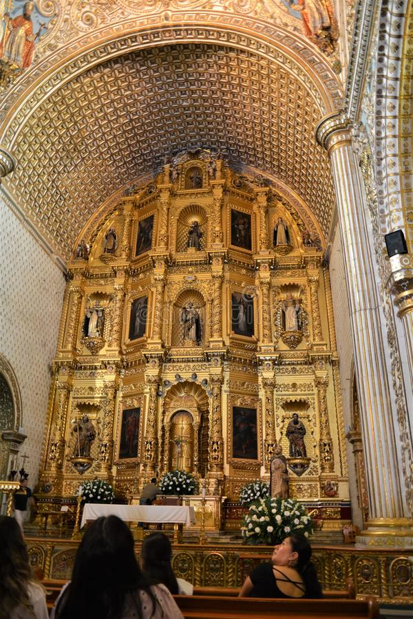 Templo3  de Santo Domingo  en Oaxaca. One of the most beautiful and important places in Oaxaca city, a place full of history. Amazing construction, the perfect royalty free stock photo