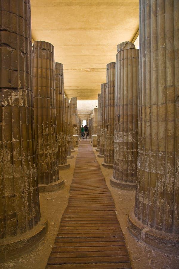 Templo de Saqqara imagem de stock