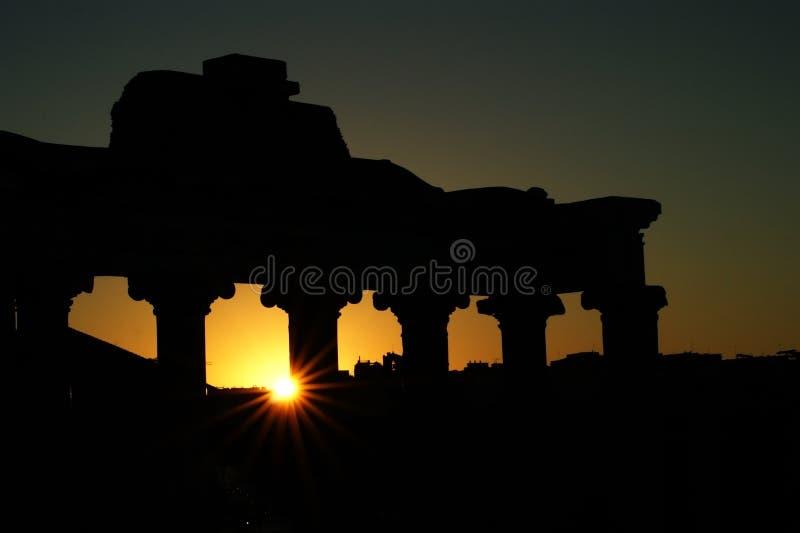 Templo de Saturno no alvorecer foto de stock royalty free