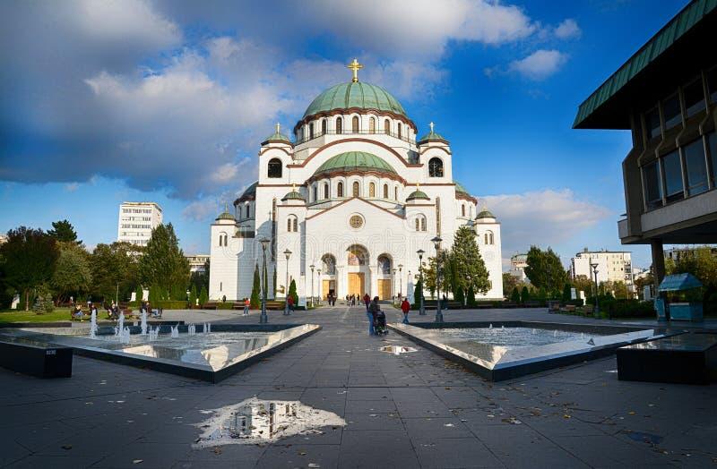 Iglesia de Sava del santo en Belgrado fotos de archivo