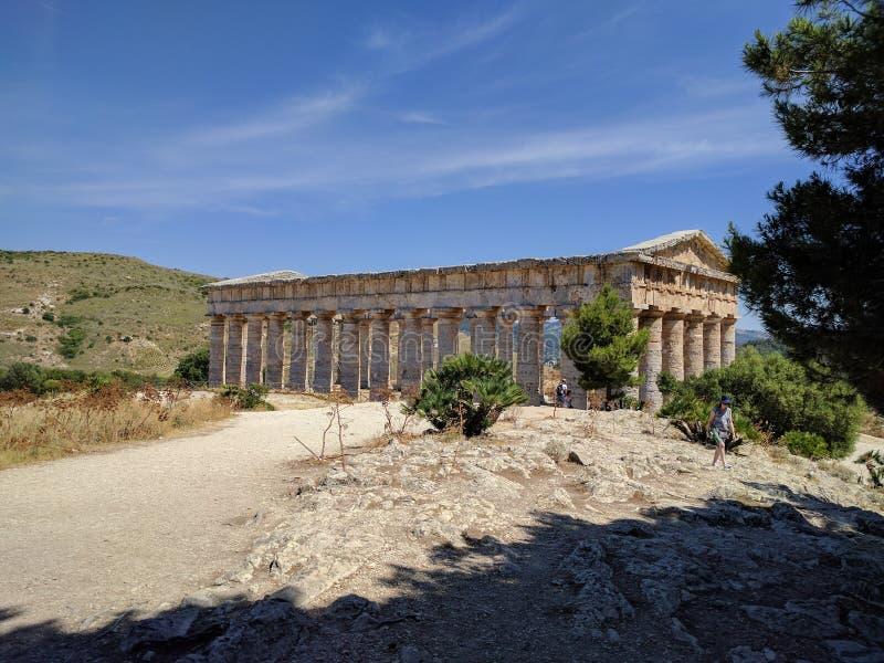 Templo de Segesta fotos de stock