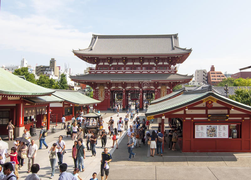 Templo de Senso-ji, Tokyo fotografia de stock
