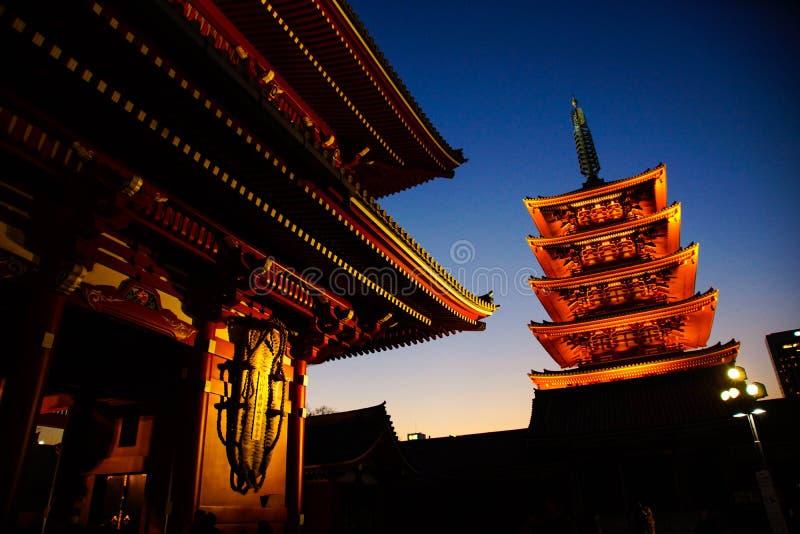 Templo de Sensoji, Asakusa Tokio Japón fotografía de archivo