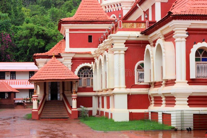 Templo de Shanta Durga Hindu, Goa, la India fotografía de archivo libre de regalías
