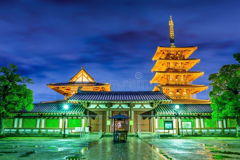 Templo de Shitennoji imagens de stock royalty free