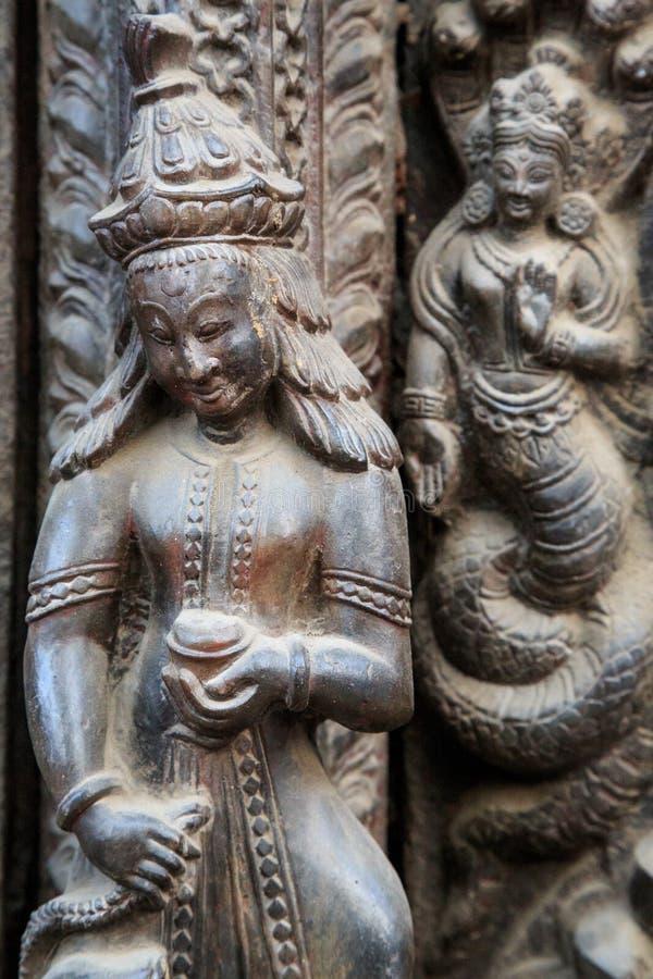 Templo de Shiva-Parvati, cuadrado de Durbar, Katmandu, Nepal foto de archivo libre de regalías