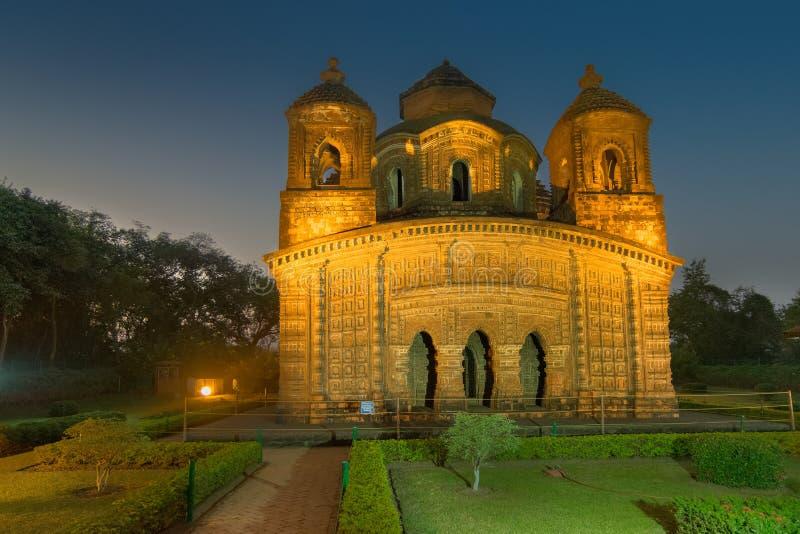 Templo de Shyamroy, Bishnupur, la India imagen de archivo libre de regalías