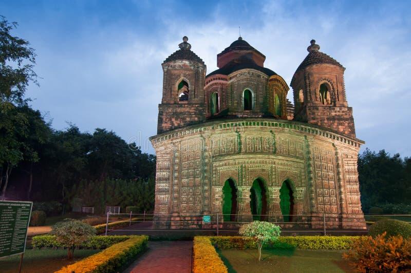 Templo de Shyamroy, Bishnupur, la India fotografía de archivo libre de regalías