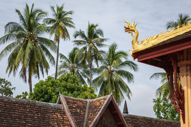 Templo de Sisaket na cidade de Vientiane Arquitetura antiga e estátuas de Buda Vientiane, Laos fotos de stock royalty free