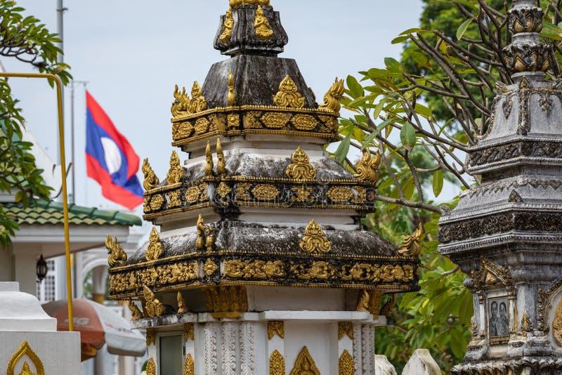 Templo de Sisaket na cidade de Vientiane Arquitetura antiga e estátuas de Buda Vientiane, Laos foto de stock
