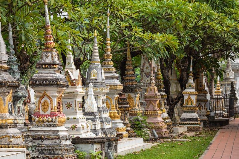 Templo de Sisaket na cidade de Vientiane Arquitetura antiga e estátuas de Buda Vientiane, Laos imagem de stock royalty free