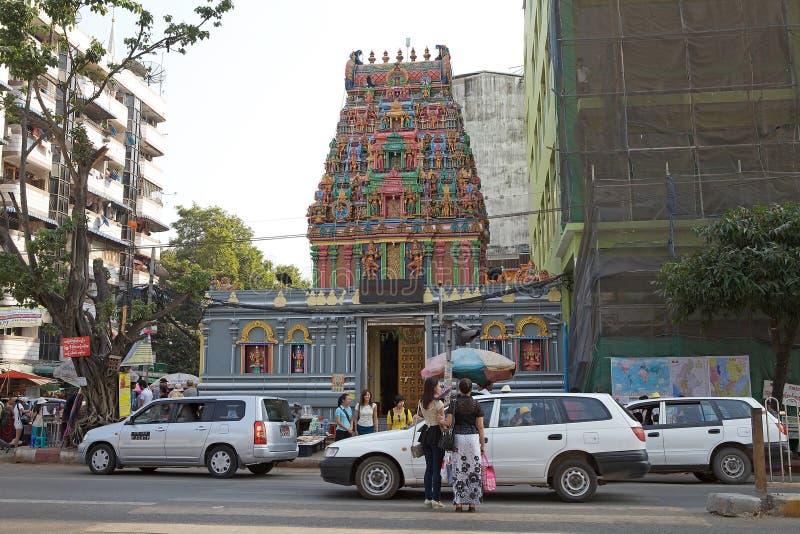 Templo de Sri Kali em Yangon, Myanmar fotografia de stock
