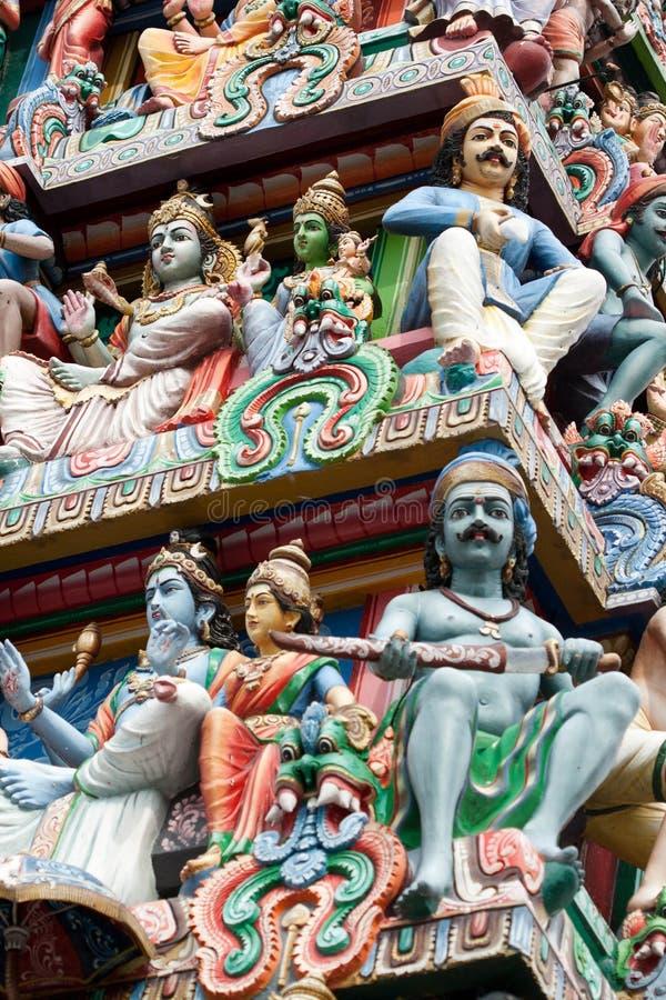Templo de Sri Mariamman en Singapur: 2 foto de archivo