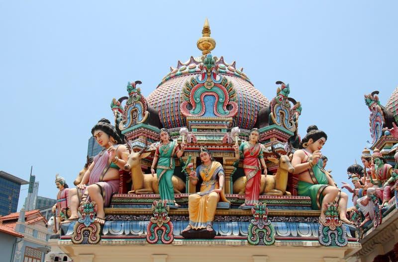 Templo de Sri Mariamman - Singapore fotos de stock royalty free