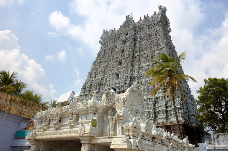 Templo de Suchindram. Kanniyakumari, Tamilnadu, Kerala, la India foto de archivo