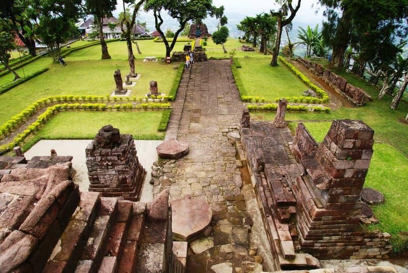 Templo de Sukuh foto de stock