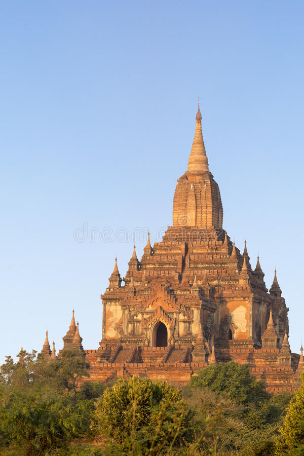 Templo de Sulamani no nascer do sol fotografia de stock