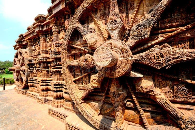 Templo de Sun perto de Puri, Índia fotografia de stock royalty free