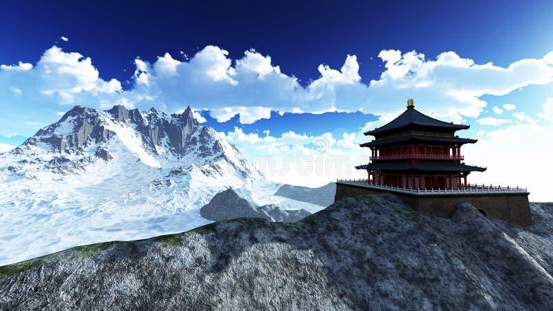Templo de Sun - santuário budista ilustração royalty free