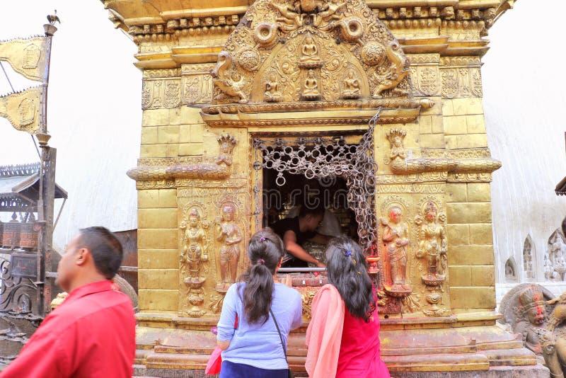 Templo de Swayambhunath, Katmandu, Nepal fotos de archivo libres de regalías