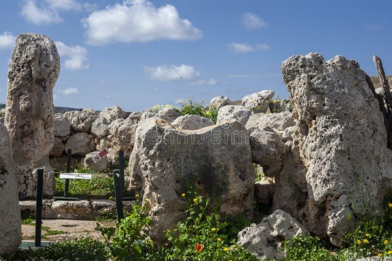 Templo de Ta Hagrat | Câmara de Oracle imagem de stock royalty free