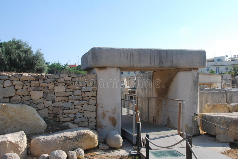 Templo de Tarxien fotografia de stock royalty free