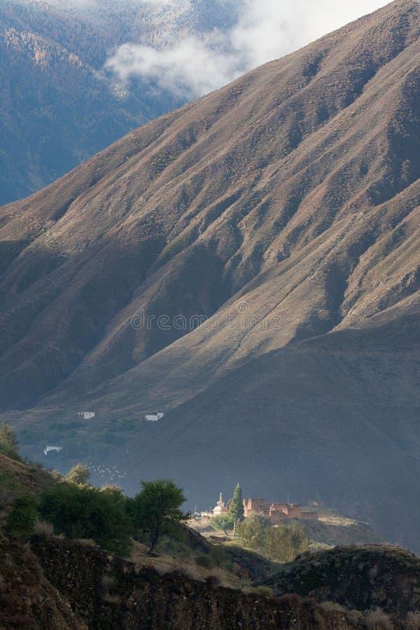 Templo de Tibet imagem de stock