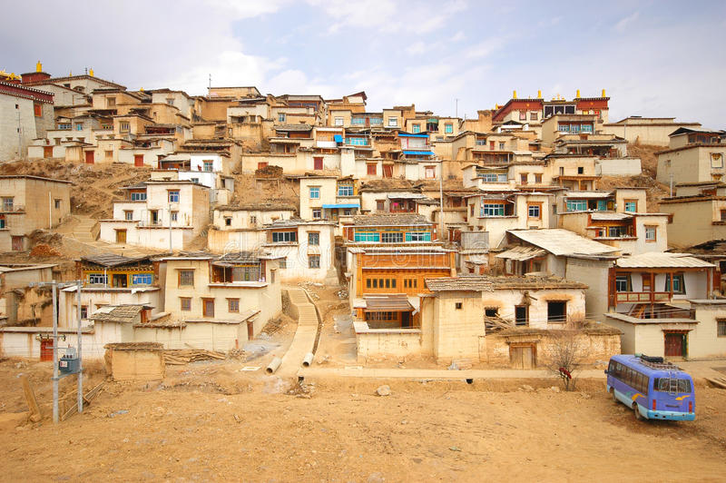 Templo de Tibet em Zhongdian fotografia de stock royalty free