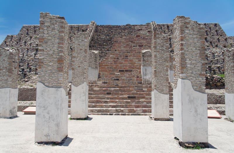 Templo de Toltec em Tula fotografia de stock