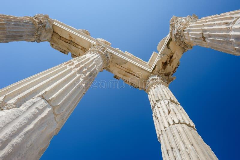 Templo de Trajan fotos de archivo