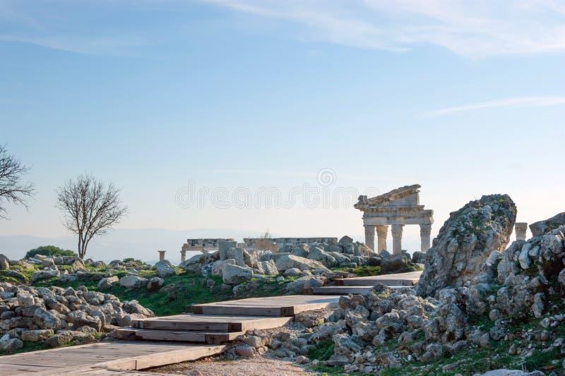 Templo de Trajan fotografia de stock