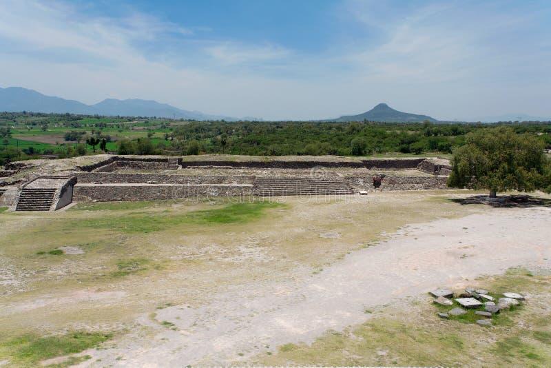 Templo de Tula Toltec imagens de stock