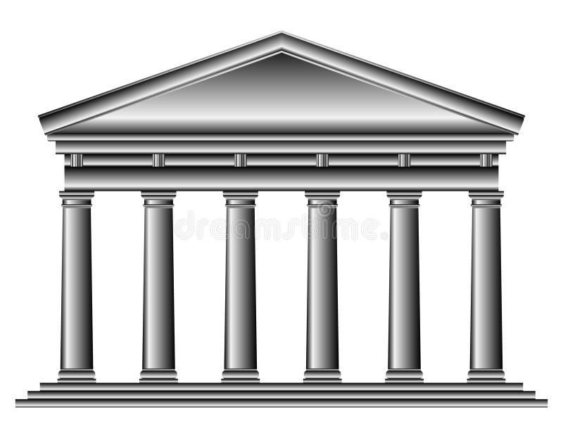 Templo de Tuscan ilustração royalty free