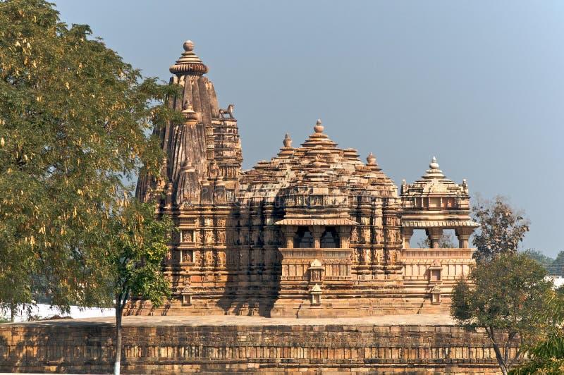 Templo de Vamana em Khajuraho fotos de stock royalty free