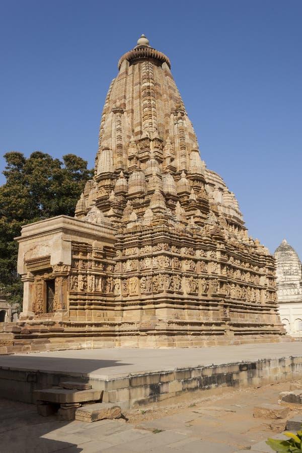 Templo de Vamana em Khajuraho.India. imagem de stock royalty free