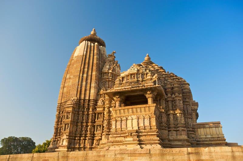 Templo de Vamana en Khajuraho foto de archivo libre de regalías