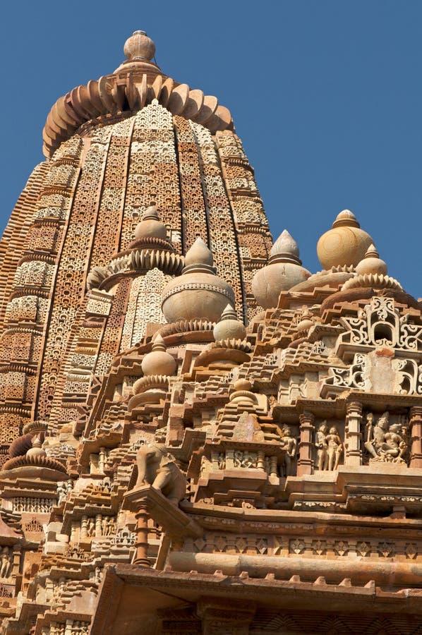 Templo de Vamana en Khajuraho fotos de archivo