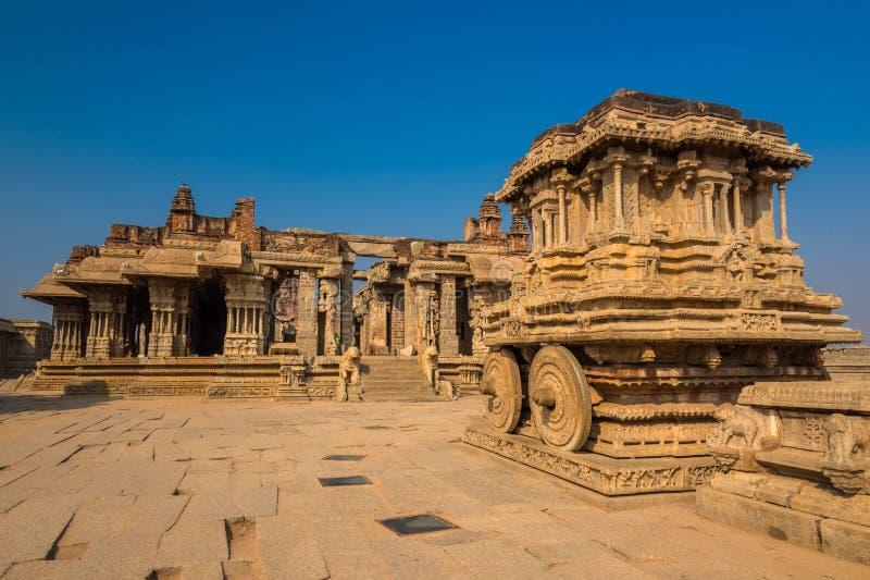 Templo de Vittala en Hampi foto de archivo libre de regalías