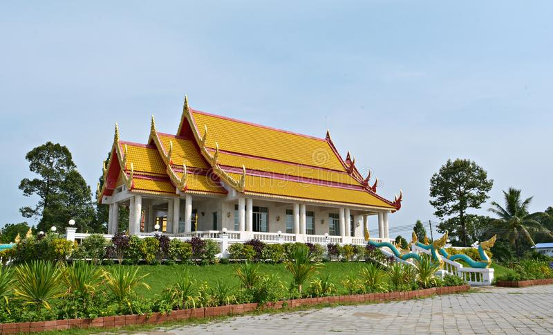 Templo de Wat AHong Silawat imagem de stock