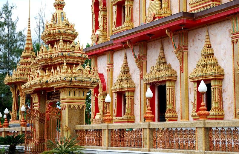 Templo de Wat Chalong fotos de stock royalty free