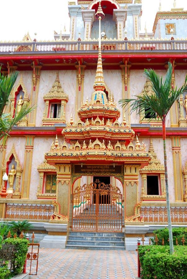 Templo de Wat Chalong fotografía de archivo