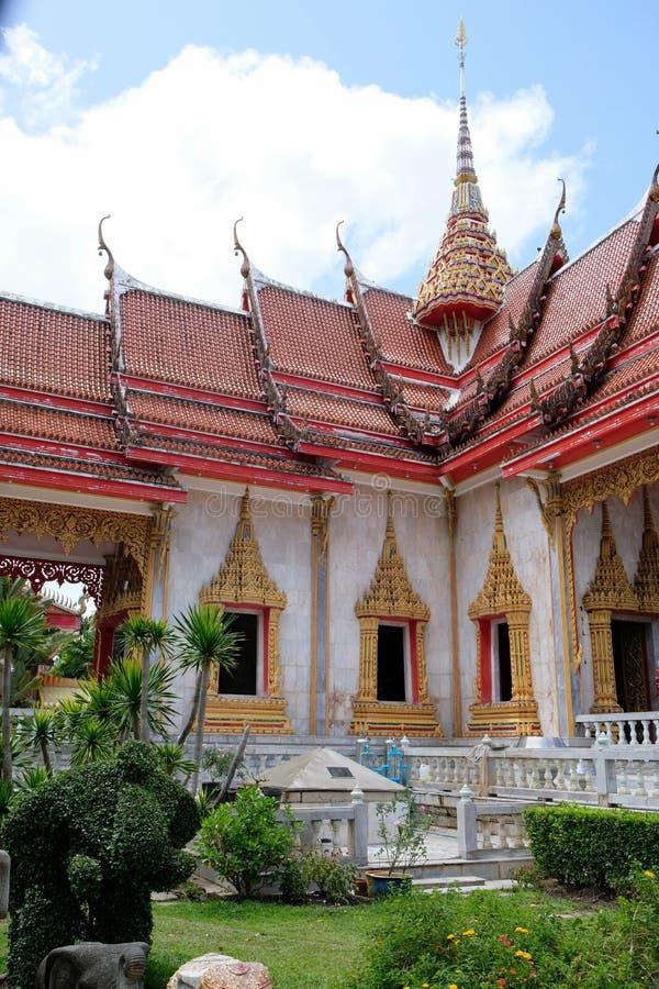 Templo de Wat Chalong Chaithararam Phuket Biggest fotografia de stock royalty free