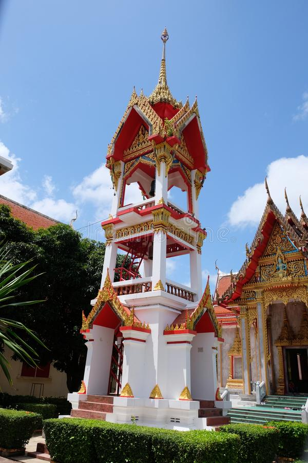 Templo de Wat Chalong Chaithararam Phuket Biggest fotografia de stock