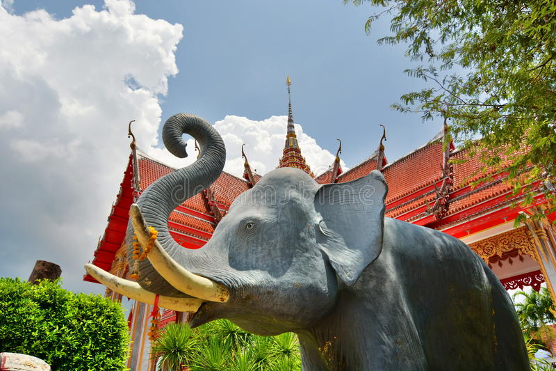 Templo de Wat Chalong Phuket tailândia fotos de stock royalty free
