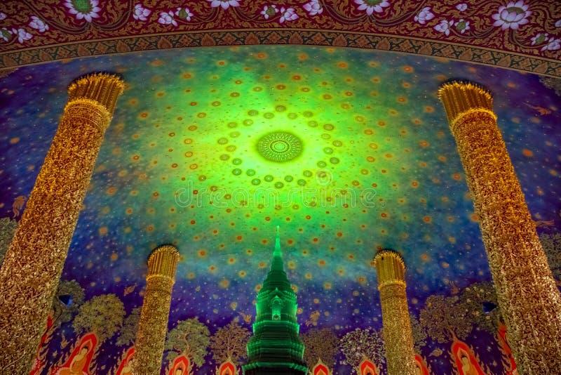 Templo de Wat Paknam Buddhist em Banguecoque, Tail?ndia ilustração do vetor