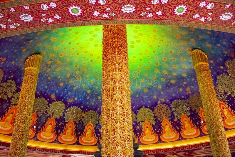 Templo de Wat Paknam Buddhist em Banguecoque, Tail?ndia ilustração stock